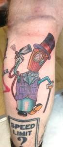 cartoon tattoo guy
