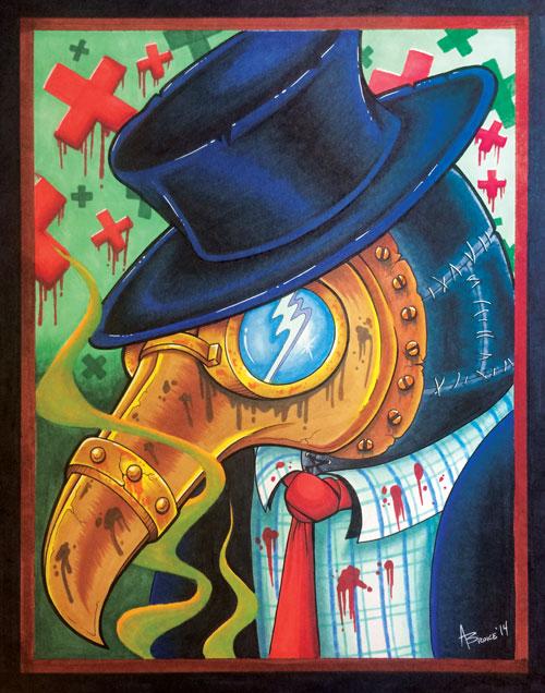 11″ x 14″ Plague Doctor Print