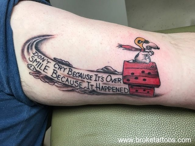 Some fun with the Red Baron on Aaron's inner bicep